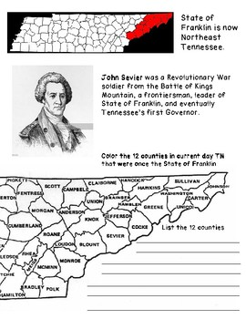 Lost State of Franklin: Tennessee History