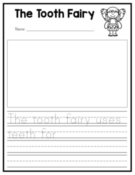Lost Tooth Activity Pack - Graphs, Certificates, Writing