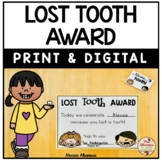 Lost Tooth Award (Print and Digital)