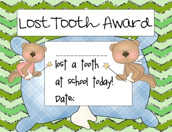 Lost Tooth Awards- Boys