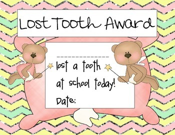 Lost Tooth Awards- Girl