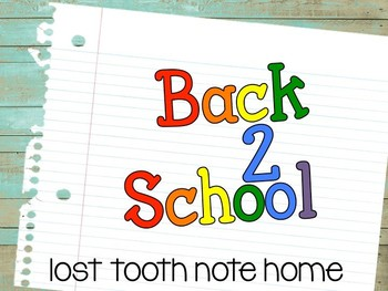 Back to School {Lost Tooth Tag}