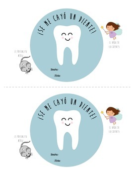 Lost Tooth Certificate in Spanish