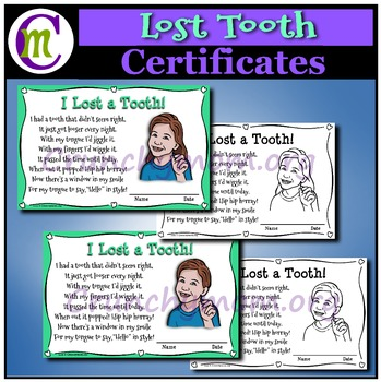 Lost Tooth Certificates