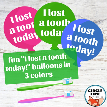 Lost Tooth Photo Booth Props, Photo Props Lose a Tooth Lost Tooth Bulletin Board