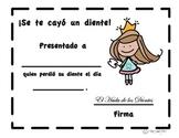Lost Tooth (Spanish), Se te cayó un diente, Diente perdido