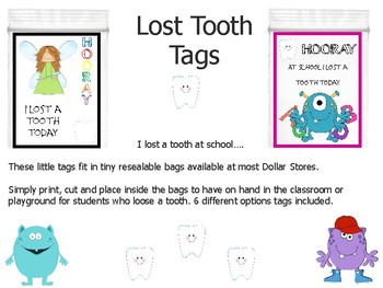 Lost Tooth Tags