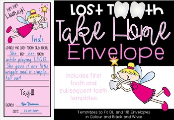 Lost Tooth Take Home Envelope