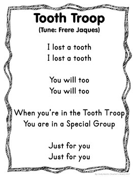 Tooth Fairy Craft - Lost Tooth Troop - Craft, Certificates, Award, Chart, Poem