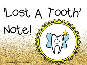 Lost a Tooth Note