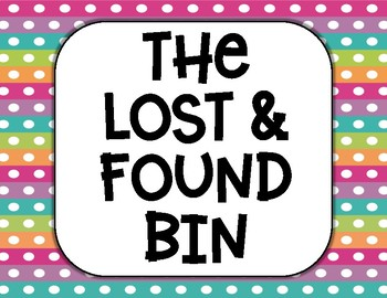 lost and found bin printable sign by everyday with ms k tpt