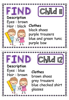 Lost and Found Reading and Writing Activity