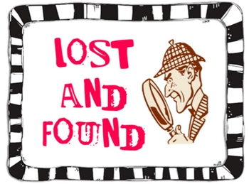 lost and found sign by schenk teachers pay teachers