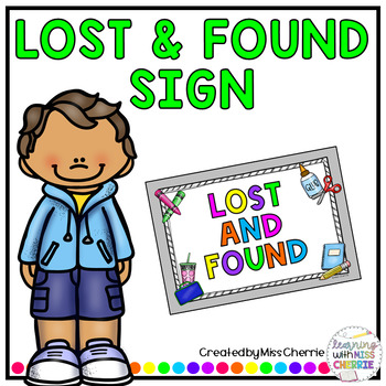 Lost and Found Sign FREEBIE