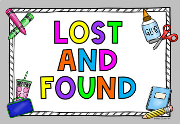 lost and found sign freebie by learning with miss cherrie tpt