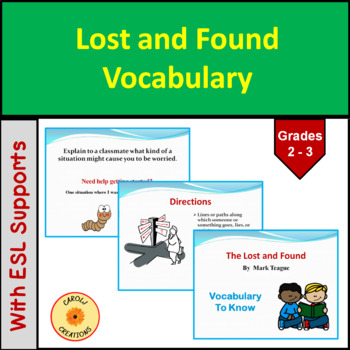 Lost and Found Vocabulary PowerPoint Presentation