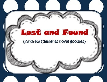 Lost and Found {novel goodies}