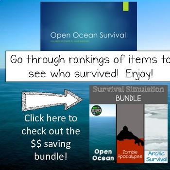 Open Ocean: Survival Simulation: Back to School Activity