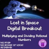 Lost in Space Digital Escape Breakout Multiply and Divide Rational Numbers