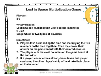 Lost in Space Multiplication Game