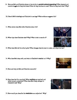 Lost in Translation Film (2003) Study Guide Movie Packet