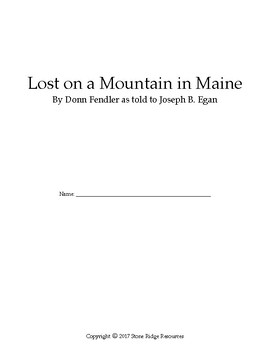 Lost on a Mountain in Maine Reading Packet