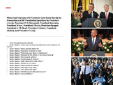 Lot of 14 Common Core Rhetorical Analyses of Speeches by American Presidents