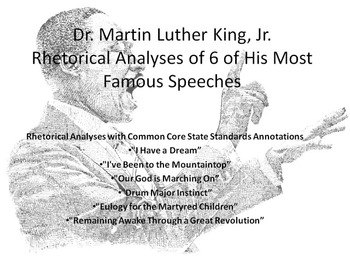 Lot of 7 Common Core Rhetorical Analyses of Speeches by Dr