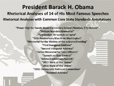Lot of 14 Common Core Rhetorical Analyses of Speeches by President Barack Obama