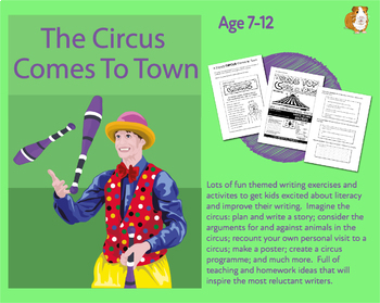 Lot's Of Writing Tasks: The Circus Comes To Town (7-11 years)