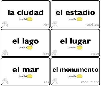 Lotería En las Vacaciones (35 boards) Spanish-English
