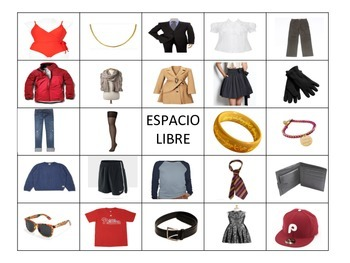 Spanish Clothing Bingo