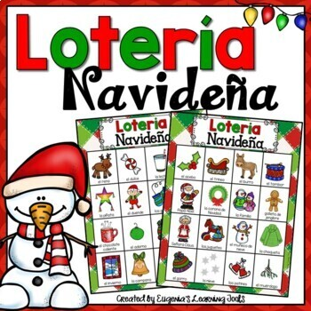 Christmas In Spanish.La Navidad Christmas Activity In Spanish Loteria Navidena