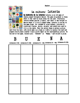 Lotería.Bingo.Culture and Numbers