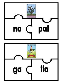 Lotería Sílabas - Set 2