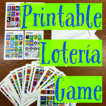 photo regarding Printable Loteria Mexicana named Loteria Spanish Video game - Mexican Bingo - 60 playing cards in addition randomized contact sheet