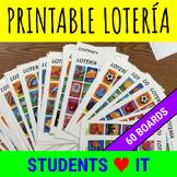 Loteria Spanish Game - Mexican Bingo - 60 cards plus randomized call sheet