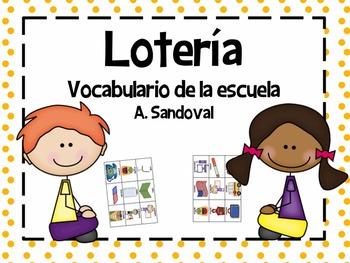 Loteria- Vocabulario de escuela