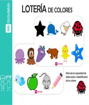 Lotería de Colores para Niños
