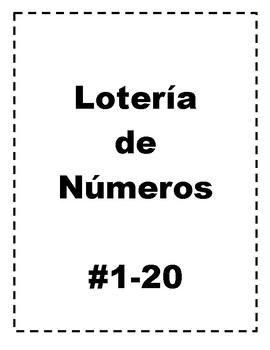 Loteria de Numeros 1-20