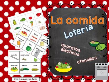 La comida / Food-Bingo in Spanish
