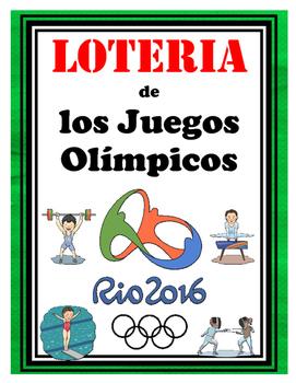 Loteria de los Juegos Olimpicos + 12 paginas de vocabulario