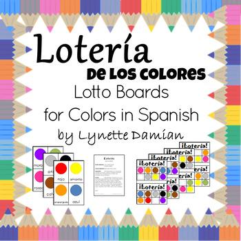 Lotería de los colores -- Colors Lotto Boards for Spanish