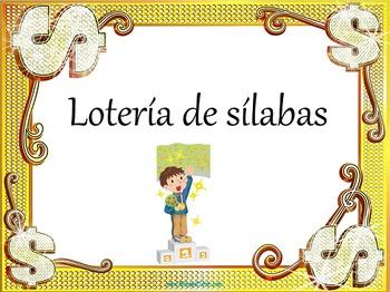 Spanish Syllable Bingo/Lotería de sílabas