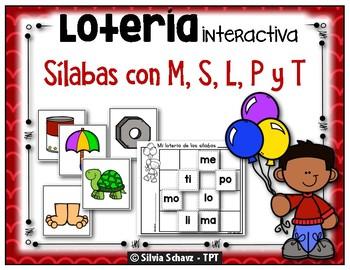 Lotería interactiva - Las sílabas con M, S, L, P y T