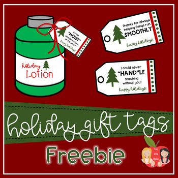 Lotion Holiday Gift Tags