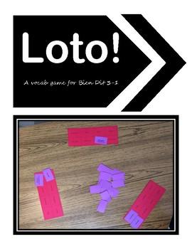 Loto Bien Dit 3-1 Vocab Review Game