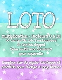 Loto / Bingo - Multiplication (jusqu'à 10 x 10) - Beau motif aquarelle!