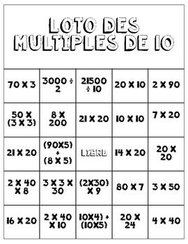 Loto Multiples de 10 et la Propriété de distributivité