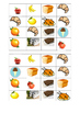 Loto de la nourriture SET TWO 15 new boards